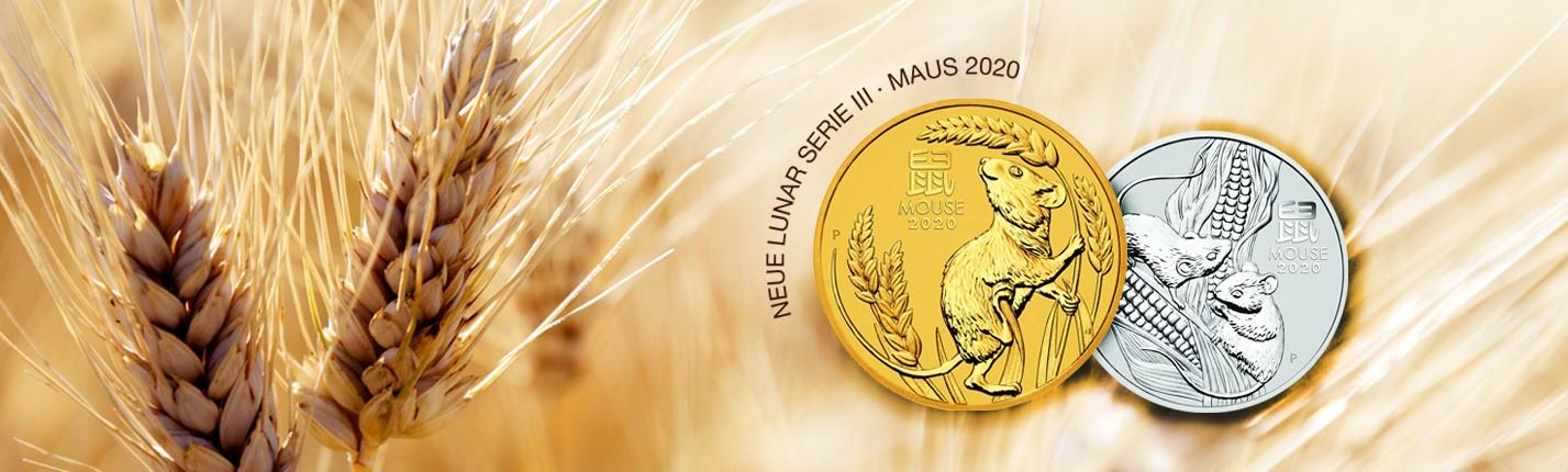 1 Unze Gold Lunar III Maus 2020 -NEU-